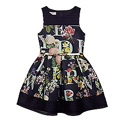 Baker by Ted Baker - Girls' Navy floral print scuba dress
