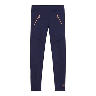 Baker By Ted Baker   Girls' Navy Zip Detail Leggings by Baker By Ted Baker