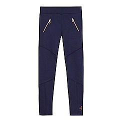 Baker by Ted Baker - Girls' navy zip detail leggings