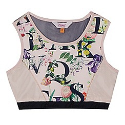 Baker by Ted Baker - Girls' light pink alphabet floral logo print crop top