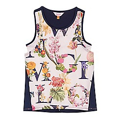 Baker by Ted Baker - Girls' light pink floral print leisure top