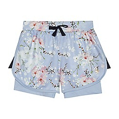 Baker by Ted Baker - Girls' lilac floral print shorts