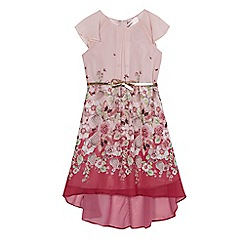 Baker by Ted Baker - Girls' pink floral print belted maxi dress
