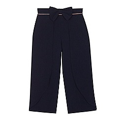 Baker by Ted Baker - Girls' navy wide leg cropped trousers