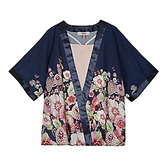 Baker by Ted Baker - Girls' navy floral print kimono set