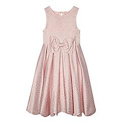 Baker by Ted Baker - 'Girls' pink diamante embellished satin dress