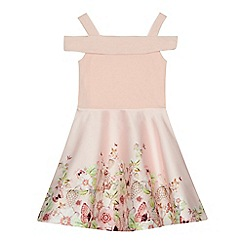 Baker by Ted Baker - 'Girls' pink floral skirt prom dress