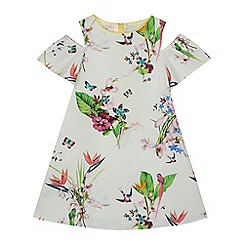 Baker by Ted Baker - 'Girls' white floral print dress