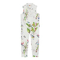 Baker by Ted Baker - 'Girls' white floral print sleeveless top and trousers set
