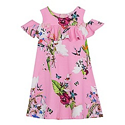 Baker by Ted Baker - Girls' pink floral print dress