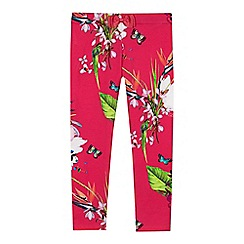 Baker by Ted Baker - Girls' pink floral print 'Oasis' leggings