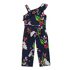 Baker by Ted Baker - 'Girls' navy floral print jumpsuit