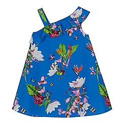 Baker by Ted Baker - 'Girls' blue floral print dress