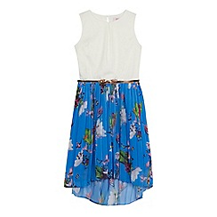 Baker by Ted Baker - Girls' bright blue floral print dress