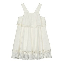 Baker by Ted Baker - 'Girls' white lace trim dress