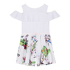 Baker by Ted Baker - 'Girls' white floral print playsuit