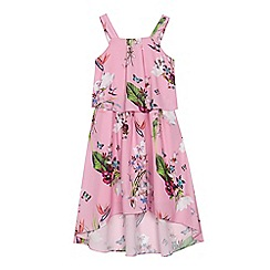 Baker by Ted Baker - 'Girls' pink floral print layered dress