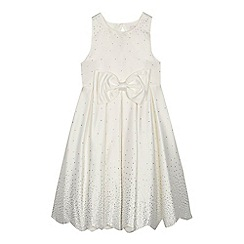 Baker by Ted Baker - 'Girls' ivory diamante embellished satin dress