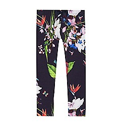 Baker by Ted Baker - 'Girls' navy floral print leggings