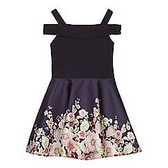 Baker by Ted Baker - 'Girls' navy floral skirt prom dress