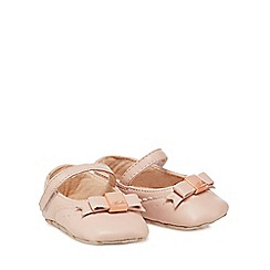 Baker by Ted Baker - 'Baby girls' light pink leather pumps