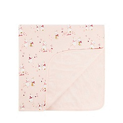 Baker by Ted Baker - Baby girls' light pink bunny print blanket