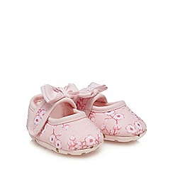 Baker by Ted Baker - 'Baby girls' light pink floral print padders