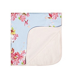 Baker by Ted Baker - Baby girls' light blue floral print blanket