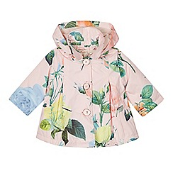 Baker by Ted Baker - 'Baby girls' pink floral print jacket