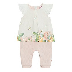 Baker by Ted Baker - Baby girls' light pink floral print top and bottoms set