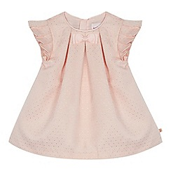 Baker by Ted Baker - 'Baby girls' pink textured spotted dress