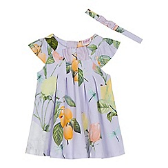 Baker by Ted Baker - 'Baby girls' lilac rose print jersey dress