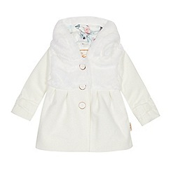 Baker by Ted Baker - Baby Girls' Off White Faux Fur Coat