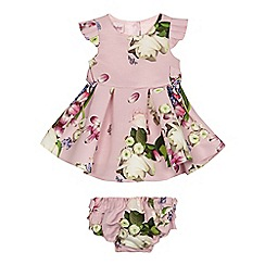 Baker by Ted Baker - 'Baby girls' light pink floral print dress