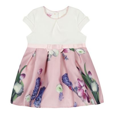 1ae721231e33 Baker by Ted Baker  Baby girls  light pink floral print dress ...