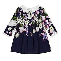 Baker by Ted Baker - Baby girls' navy floral print dress