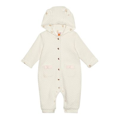 233b4611b Baker by Ted Baker Baby girls  cream textured snuggle suit