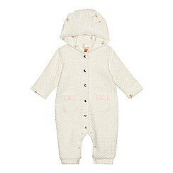Baker by Ted Baker - Baby girls' cream textured snuggle suit