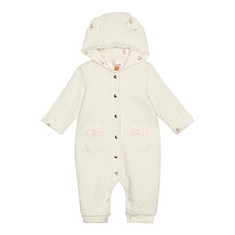 Baker by Ted Baker - Baby girls  cream textured snuggle suit dbb0ee1ad31b