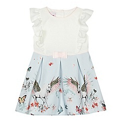 Baker by Ted Baker - 'Baby girls' light blue butterfly print dress