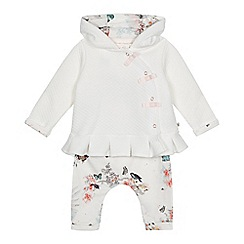 Baker by Ted Baker - Baby girls' white jacket, bodysuit and leggings set
