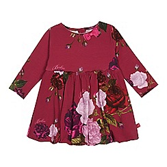 Baker by Ted Baker - Girls' dark rose floral print dress