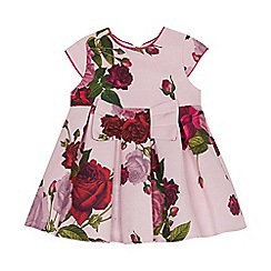 Baker by Ted Baker - Baby girls' light pink floral print dress and pants set
