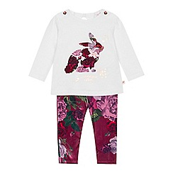 fed80619f Baker by Ted Baker - Baby girls  white printed top and leggings set