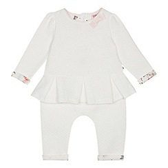 Baker by Ted Baker - Baby girls' off white quilted top and trousers set