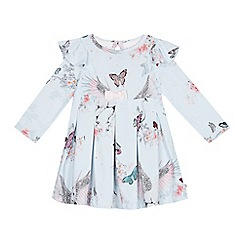 Baker by Ted Baker - Baby girls' light blue floral print jersey dress