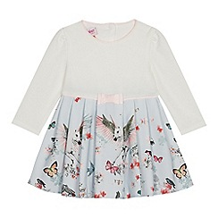 Baker by Ted Baker - Baby girls' light blue floral print dress