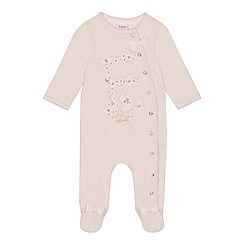 Baker by Ted Baker - Baby Girls' Light Pink 'E' Sleepsuit