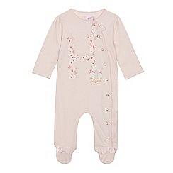 Baker by Ted Baker - Baby Girls' Light Pink 'H' Sleepsuit