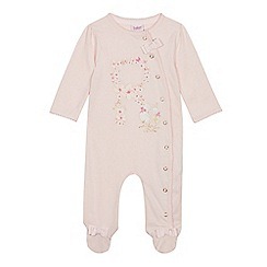 Baker by Ted Baker - Baby Girls' Light Pink 'R' Sleepsuit